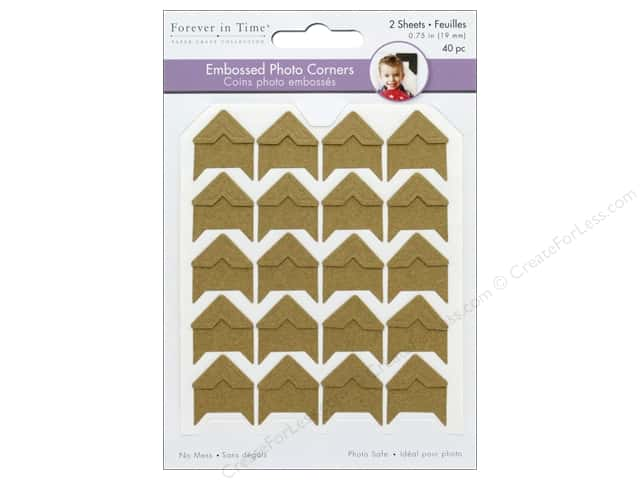 "Mulitcraft  Photo Corner .75"" Cardstock Kraft/Natural 40 pc"