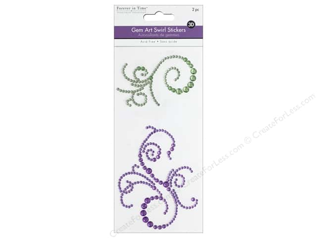 Multicraft Sticker Gem Art Swirl Sage/Purple