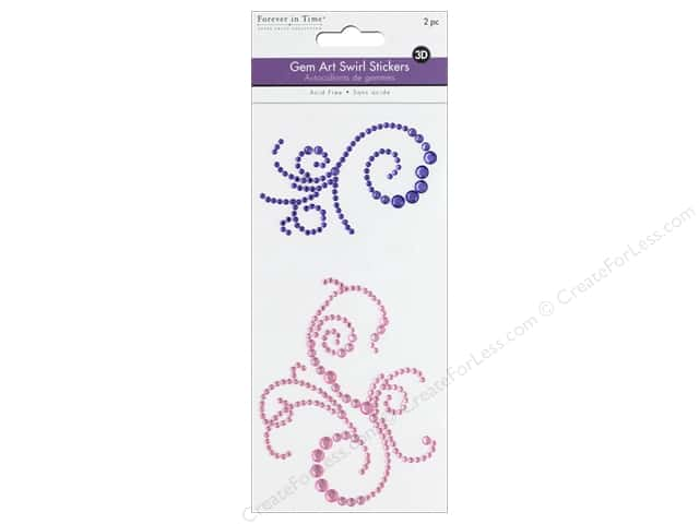 Multicraft Sticker Gem Art Swirl Violet/Pink