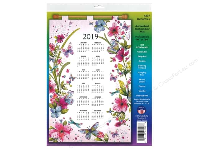 Design Works Kit Sequin Calendar 2019 Butterflies