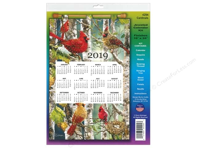 Design Works Kit Sequin Calendar 2019 Cardinals