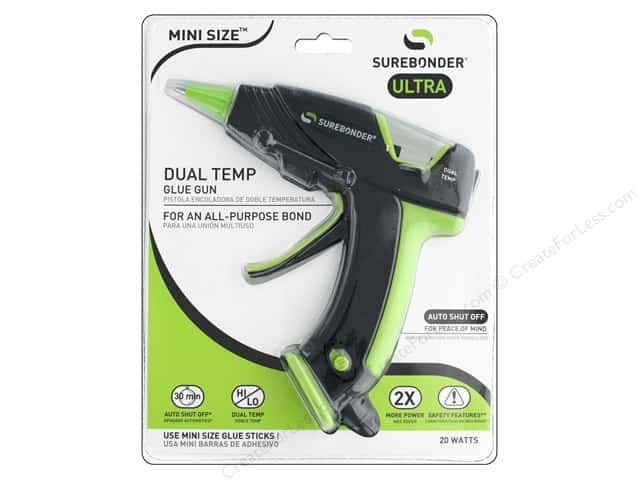 Surebonder Glue Gun Mini Dual Temp Auto Off 20 Watt