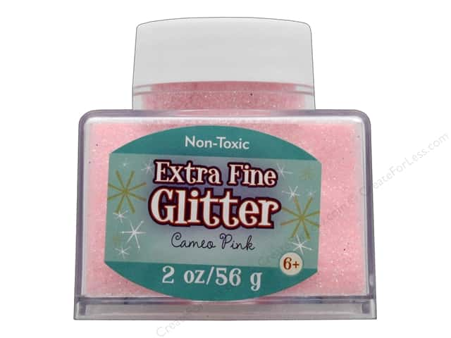 Sulyn Glitter 2oz Stack Jar Extra Fine Cameo Pink