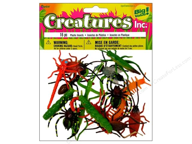 """Darice Plastic Insects 2"""" 16pc"""
