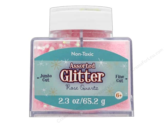 Sulyn Glitter 2.3 oz Stack Jar Assorted Rose Quartz