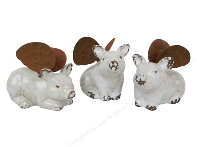 Darice Ceramic Pig With Metal Wings Assorted 3.5 in. x 2 in. x 3 in.