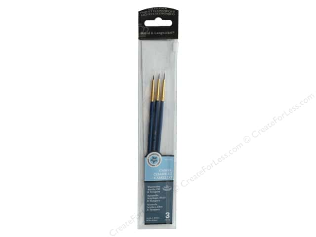 Royal Brush Set Value Pack Camel Detail 3/0, 2/0, 0