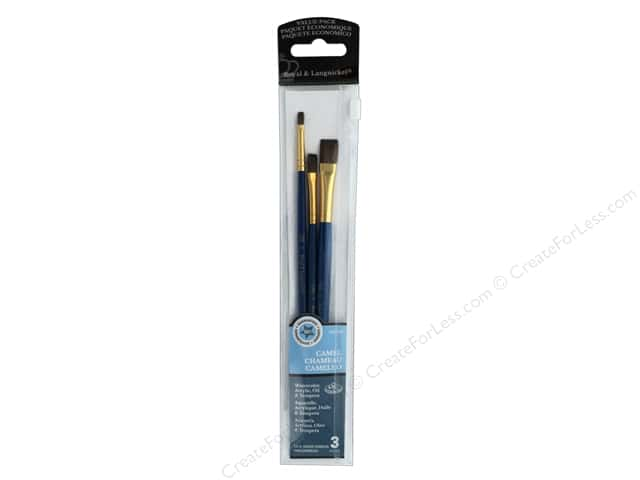Royal Brush Set Value Pack Camel Shader 2, 6, 10