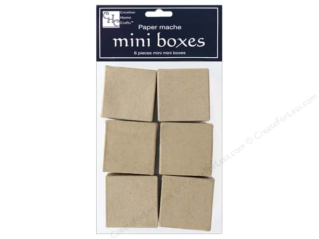PA Paper Mache Bitty Box 6 pc. Square