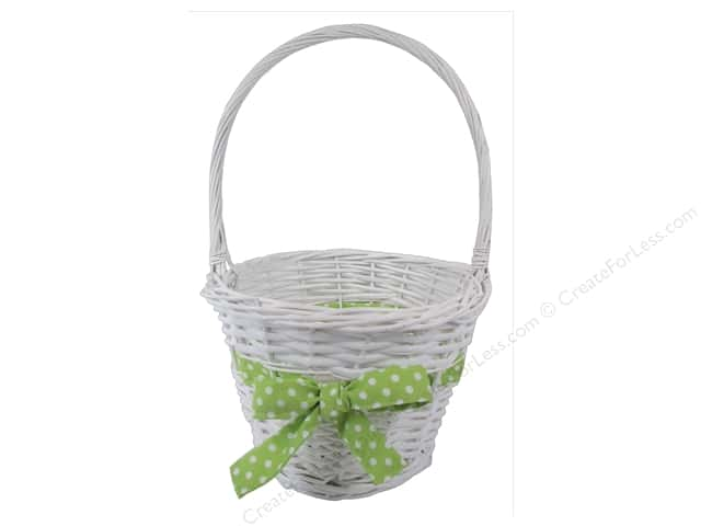 Darice Basket Easter with Green Bow