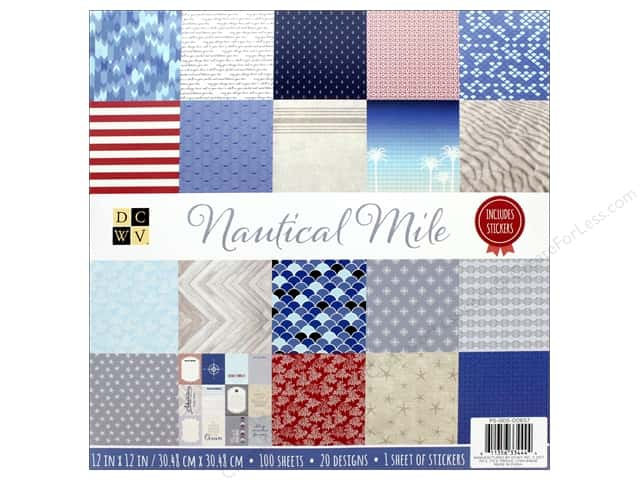 DieCuts Stacks Paper 12 in. x 12 in. Nautical Mile