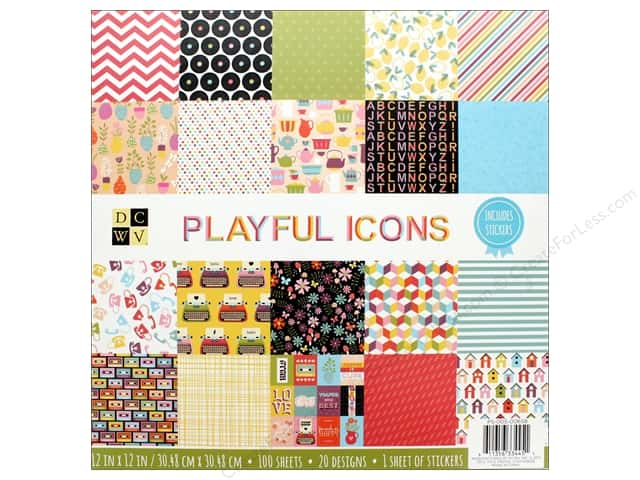 DieCuts Stacks Paper 12 in. x 12 in. Playful Icons