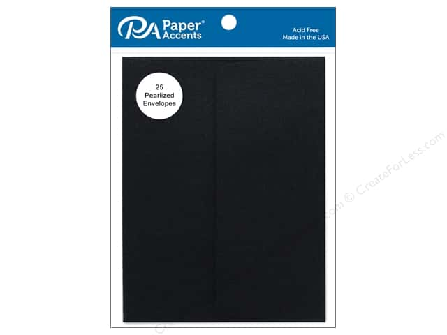 Paper Accents 4 1/4 x 5 1/2 in. Envelopes 25 pc. Pearlized Onyx