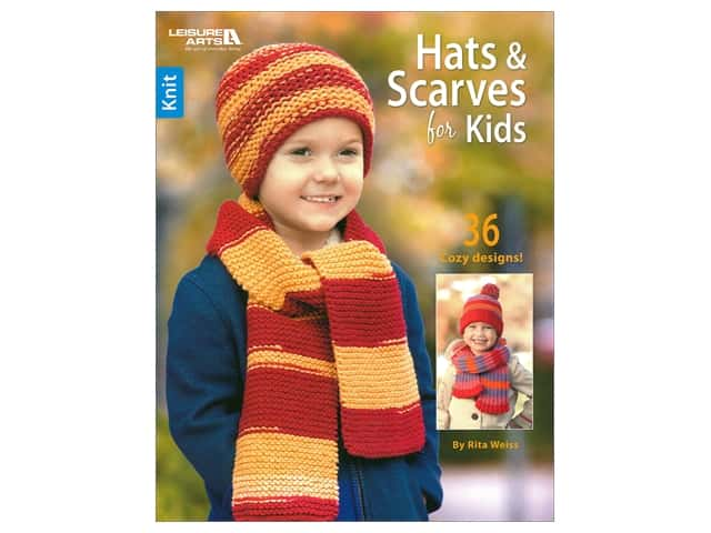 Leisure Arts Hats & Scarves For Kids Book