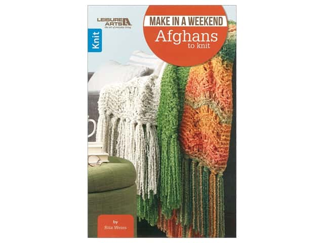 Leisure Arts Make In A Weekend Afghans To Knit Book