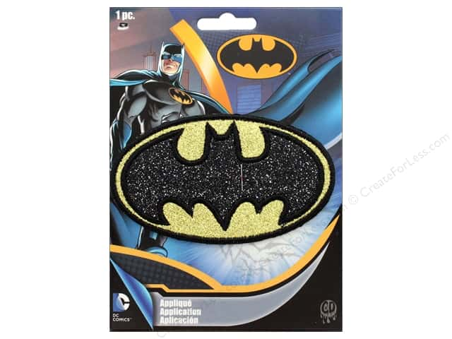 C&D Visionary Applique Batman Black Glitter