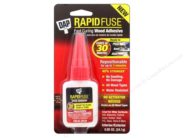 DAP All Purpose Adhesive RapidFuse Wood .85oz Clear
