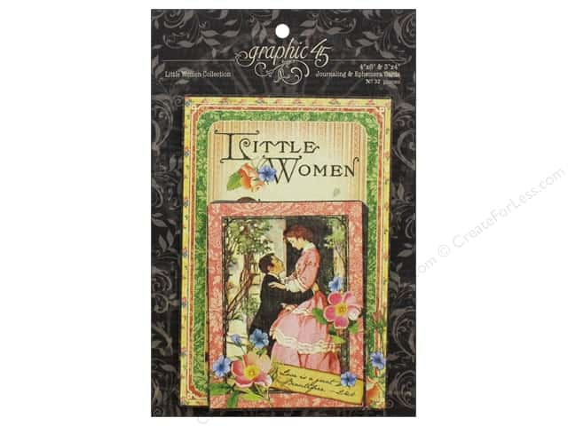 Graphic 45 Collection Little Women Ephemera Cards