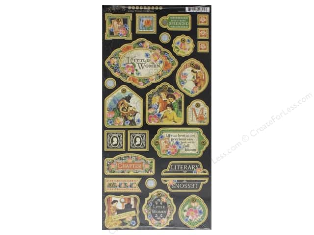 Graphic 45 Collection Little Women Chipboard