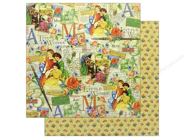 Graphic 45 Collection Little Women Paper 12 in. x 12 in.  Sisterly Love (25 pieces)