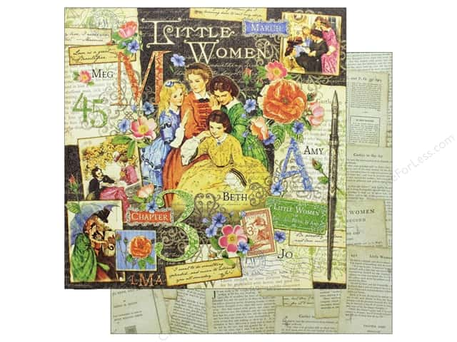 Graphic 45 Collection Little Women Paper 12 in. x 12 in. Little Women (25 pieces)