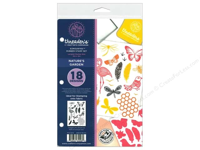 Crafter's Companion Threaders Rubber Stamp Set Nature's Garden