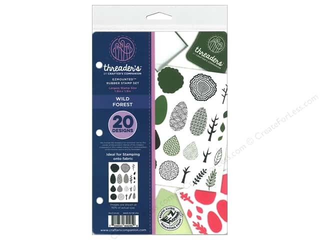 Crafter's Companion Threaders Rubber Stamp Set Wild Forest