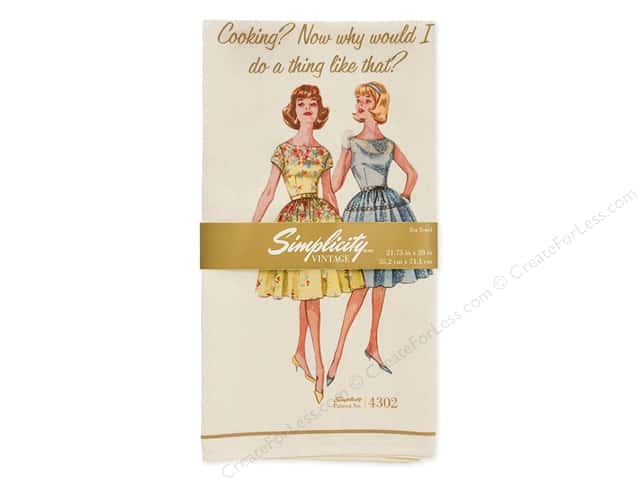 Simplicity Notions Vintage Tea Towel 4302 (3 pieces)