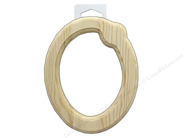 "Multicraft Wood Letter Bevel Cut 6"" Natural O"