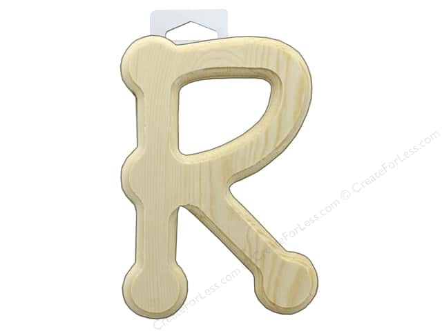Multicraft Wood Letter Bevel Cut 6 in. Natural R