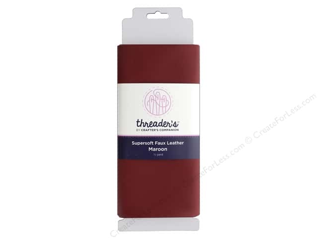 Crafter's Companion Threaders Faux Leather Maroon