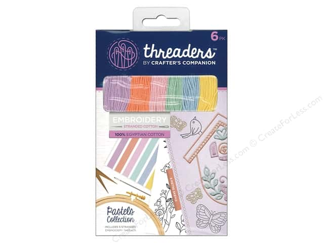 Crafter's Companion Threaders Embroidery Stranded Cotton - Pastels