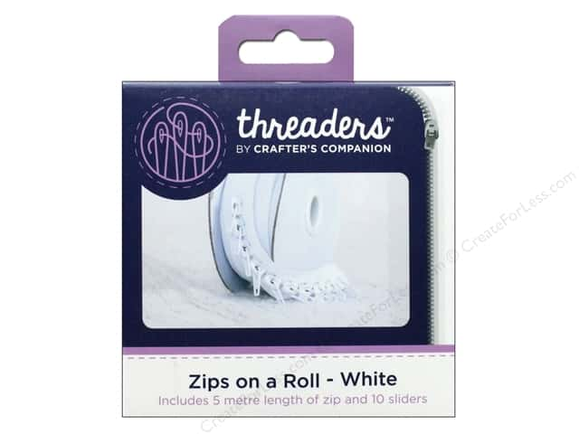 Crafter's Companion Threaders Zips on a Roll White