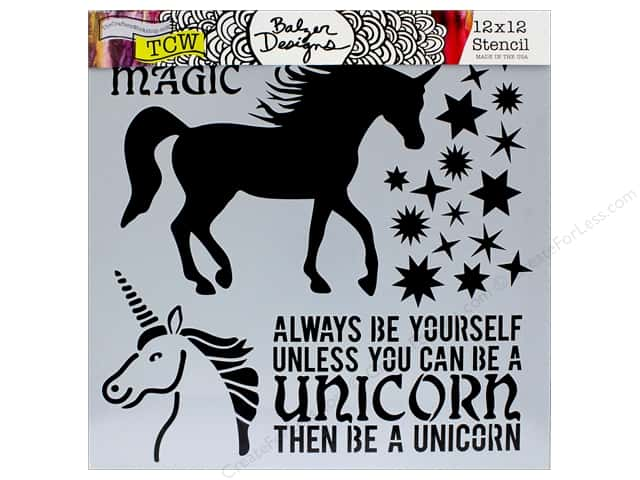 "The Crafter's Workshop Stencil 12""x 12"" Unicorn"
