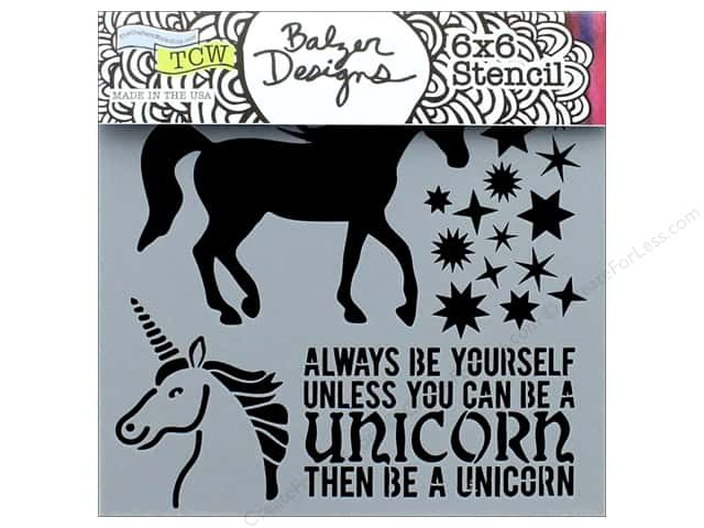"The Crafter's Workshop Stencil 6""x 6"" Unicorn"