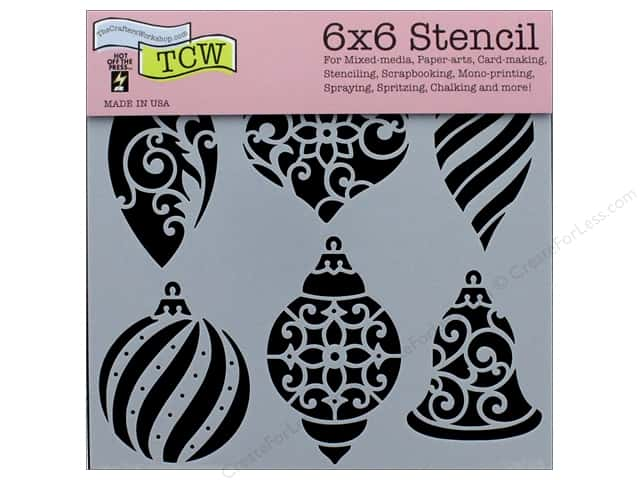 "The Crafter's Workshop Stencil 6""x 6"" Ornaments"
