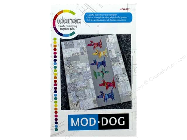 Colourwerx Mod Dog Pattern