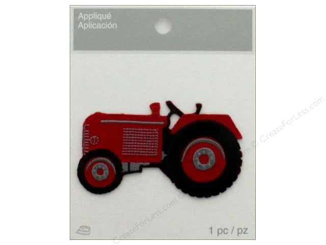 Simplicity Applique Iron On Tractor Red