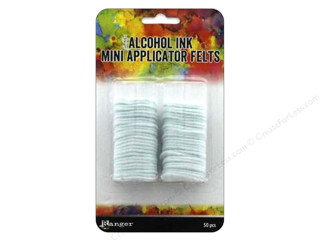 Ranger Tim Holtz Alcohol Ink Mini Applicator Replacement Felts 50 pc.