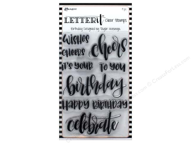 Ranger Letter It Clear Stamp Set Birthday