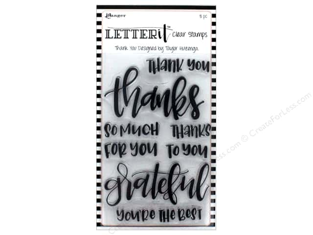 Ranger Letter It Clear Stamp Set Thank You