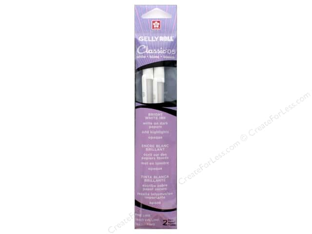 Sakura Gelly Roll Pen Classic 05 Fine White 2pc