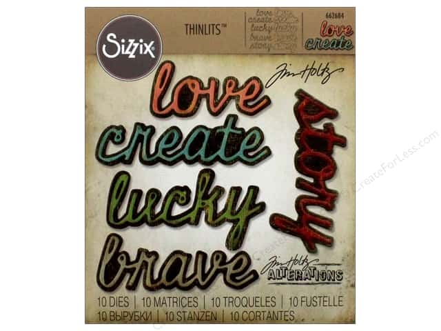 Sizzix Dies Tim Holtz Thinlits Shadow Script #1