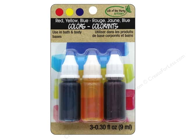 Life Of The Party Liquid Colors Set Red Yellow Blue