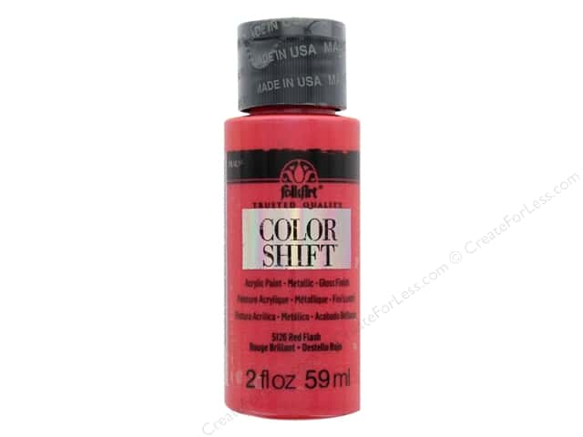 Plaid Folkart Color Shift Paint 2 oz. Red Flash