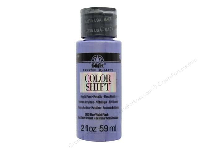 Plaid Folkart Color Shift Paint 2 oz. Blue Violet Flash
