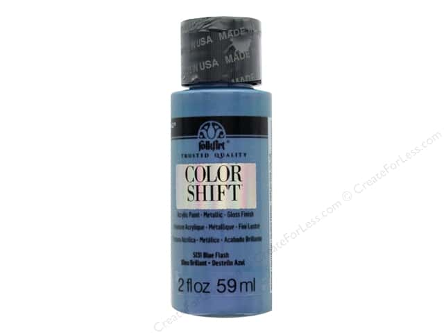 Plaid Folkart Color Shift Paint 2 oz. Blue Flash