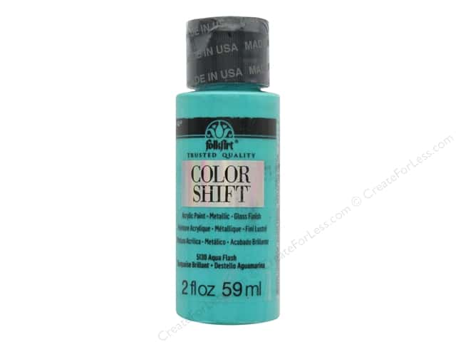 Plaid Folkart Color Shift Paint 2 oz. Aqua Flash