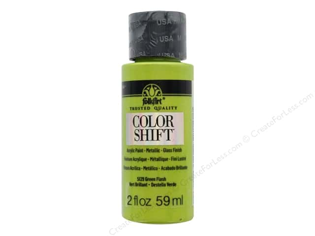 Plaid Folkart Color Shift Paint 2 oz. Green Flash