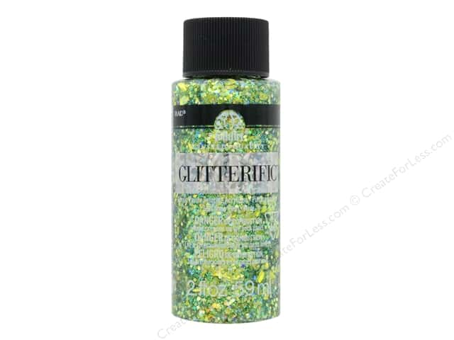 Plaid FolkArt Glitterific Paint 2 oz. Green